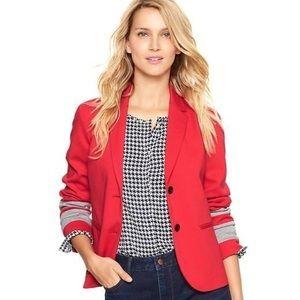 Gap Academy Blazer, Red and Gray, Size 0
